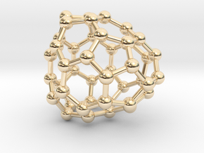 0698 Fullerene c44-70 cs in 14k Gold Plated Brass