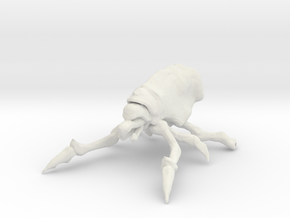 Mite Bug in White Natural Versatile Plastic