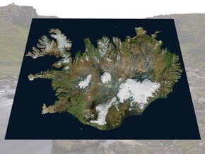 "Iceland Map, 8.5""x11"": Color in Matte Full Color Sandstone"
