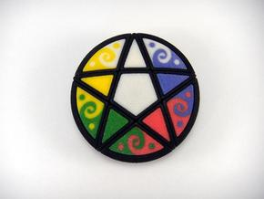 Pentacle Puzzle Color Chips in Full Color Sandstone