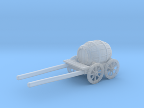 S Scale Barrel Wagon in Smooth Fine Detail Plastic