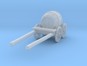 O Scale Barrel Wagon in Smooth Fine Detail Plastic