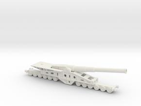 Canon de 340 mm 1/200 railway artillery  in White Natural Versatile Plastic