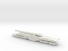 BL 14-inch Railway Gun 1/200 Boche Buster in White Natural Versatile Plastic
