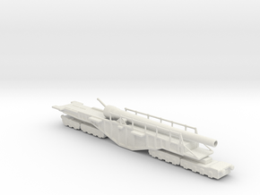BL 18-inch Railway Gun 1/160 HM Gun Boche Buster  in White Natural Versatile Plastic