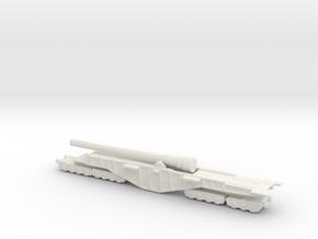 BL 18-inch Railway Gun 1/200 HM Gun Boche Buster  in White Natural Versatile Plastic