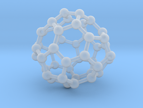 0700 Fullerene c44-72 d3h in Smooth Fine Detail Plastic