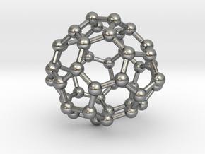 0700 Fullerene c44-72 d3h in Natural Silver