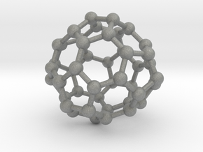 0700 Fullerene c44-72 d3h in Gray Professional Plastic