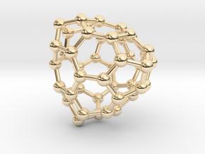 0701 Fullerene c44-73 t in 14k Gold Plated Brass