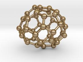 0702 Fullerene c44-74 c1 in Polished Gold Steel