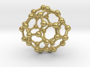 0703 Fullerene c44-75 d2 in Natural Brass