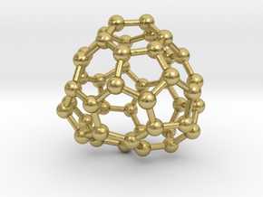 0705 Fullerene c44-77 c1 in Natural Brass