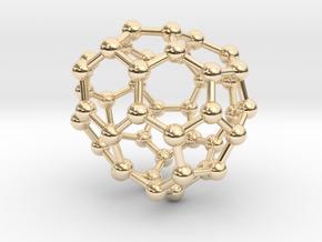 0707 Fullerene c44-79 c1 in 14k Gold Plated Brass