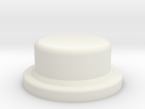 Button for Single 18650 Squonk Mod in White Natural Versatile Plastic
