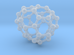0710 Fullerene c44-82 s4 in Smooth Fine Detail Plastic