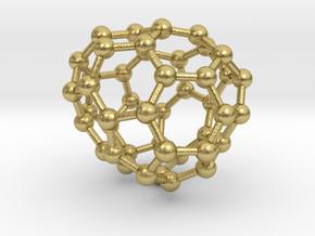 0710 Fullerene c44-82 s4 in Natural Brass