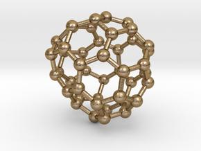 0713 Fullerene c44-85 d2 in Polished Gold Steel