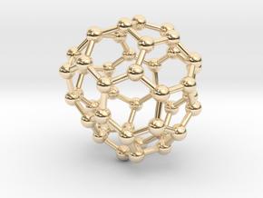 0713 Fullerene c44-85 d2 in 14k Gold Plated Brass
