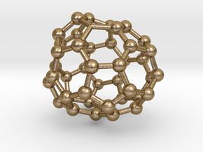 0716 Fullerene c44-88 c1 in Polished Gold Steel