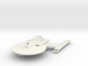 "Federation NewYork Class LightCruiser 4.8"" in White Natural Versatile Plastic"