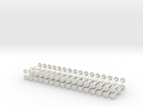 64 standard buffer heads in White Natural Versatile Plastic