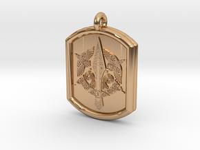 Celtic Triskelion Sword Pendant in Polished Bronze