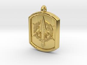 Celtic Triskelion Sword Pendant in Polished Brass