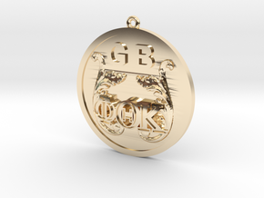 PhiThetaKappa Ornament in 14k Gold Plated Brass