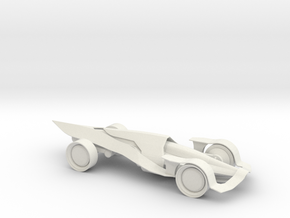 Race car in White Natural Versatile Plastic