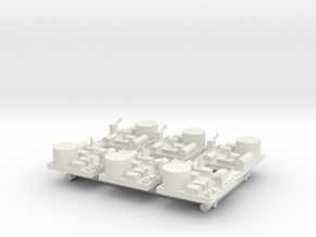 Large Naval Base x6 in White Natural Versatile Plastic
