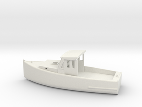 O Scale Fishing Boat in White Natural Versatile Plastic