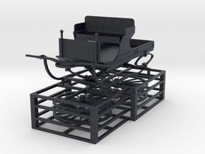 4 Wheel Light wagon 48th in Black Professional Plastic