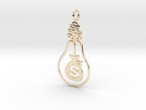 Billion Dollar Idea (2 inch) in 14k Gold Plated Brass