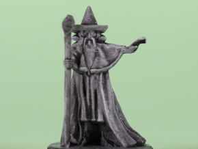 Wizard with pointy hat in Smooth Fine Detail Plastic