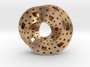 Menger Mobius  in Natural Bronze