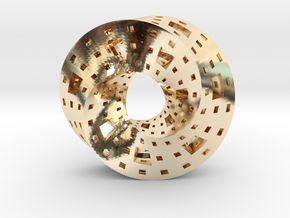 Menger Mobius  in 14k Gold Plated Brass