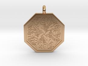 Fish Celtic Octagonal Pendant in Polished Bronze