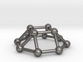0730 J04 Square Cupola V&E (a=1cm) #3 in Polished Nickel Steel