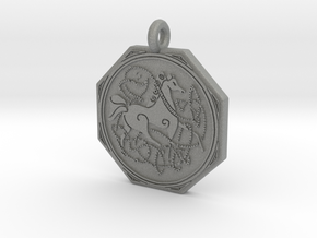 Celtic Horse  Octagonal Pendant in Gray PA12