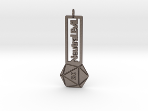 Neutral Evil RPG - Keychain in Polished Bronzed-Silver Steel