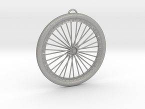 Bicycle Wheel Pendant Big in Aluminum