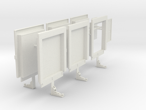 1/64th Loading Dock warehouse freight doors in White Natural Versatile Plastic