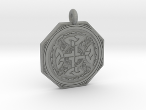 Celtic Cross Octogonal Pendant in Gray PA12