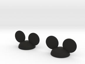 LOCK MICK 2pcs  in Black Natural Versatile Plastic