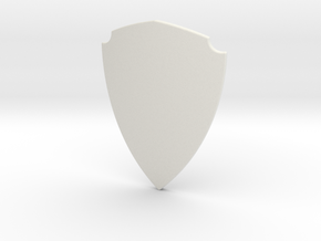 Notched Heater Shield (Plain) in White Natural Versatile Plastic: Small