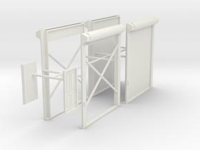 1/50th Truck Shop or Warehouse door set in White Natural Versatile Plastic