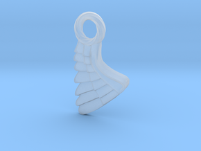 Wing Pendent and Charm 3D print model in Smoothest Fine Detail Plastic