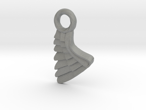 Wing Pendent and Charm 3D print model in Gray PA12