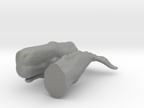 O Scale Sperm Whale in Gray Professional Plastic